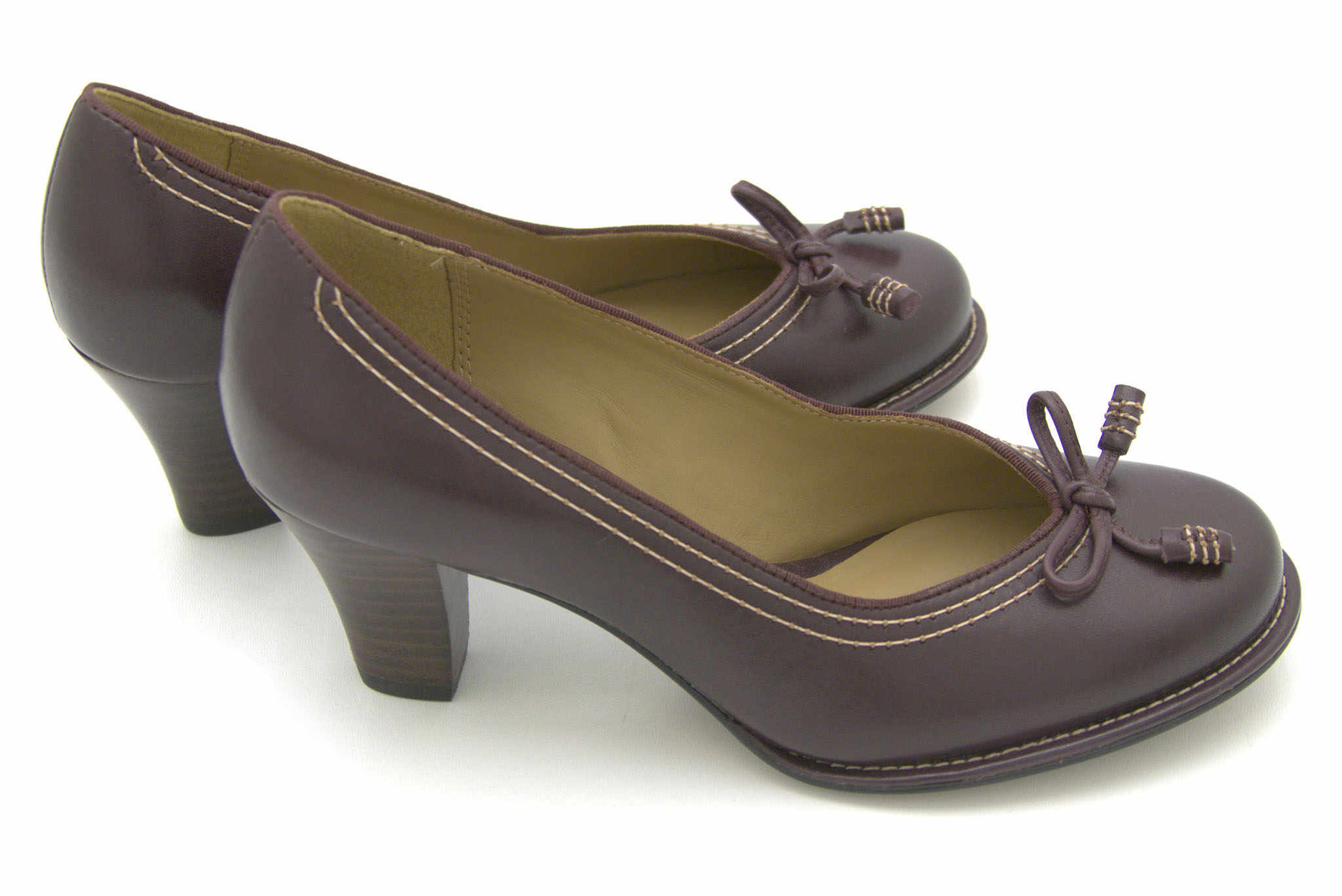 Clarks Bombay Lights AUBERGINE LEATHE