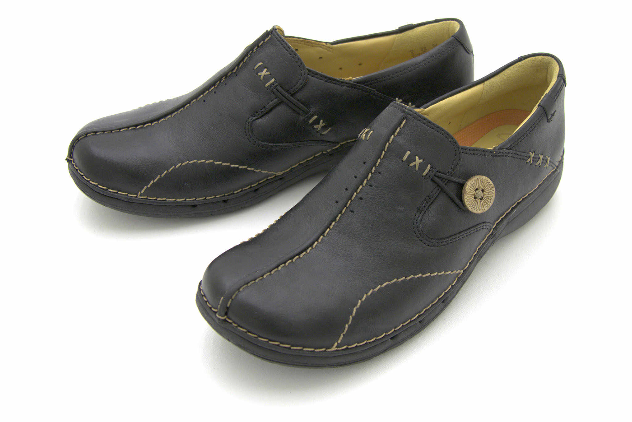 Clarks Un loop BLACK LEATHER 43