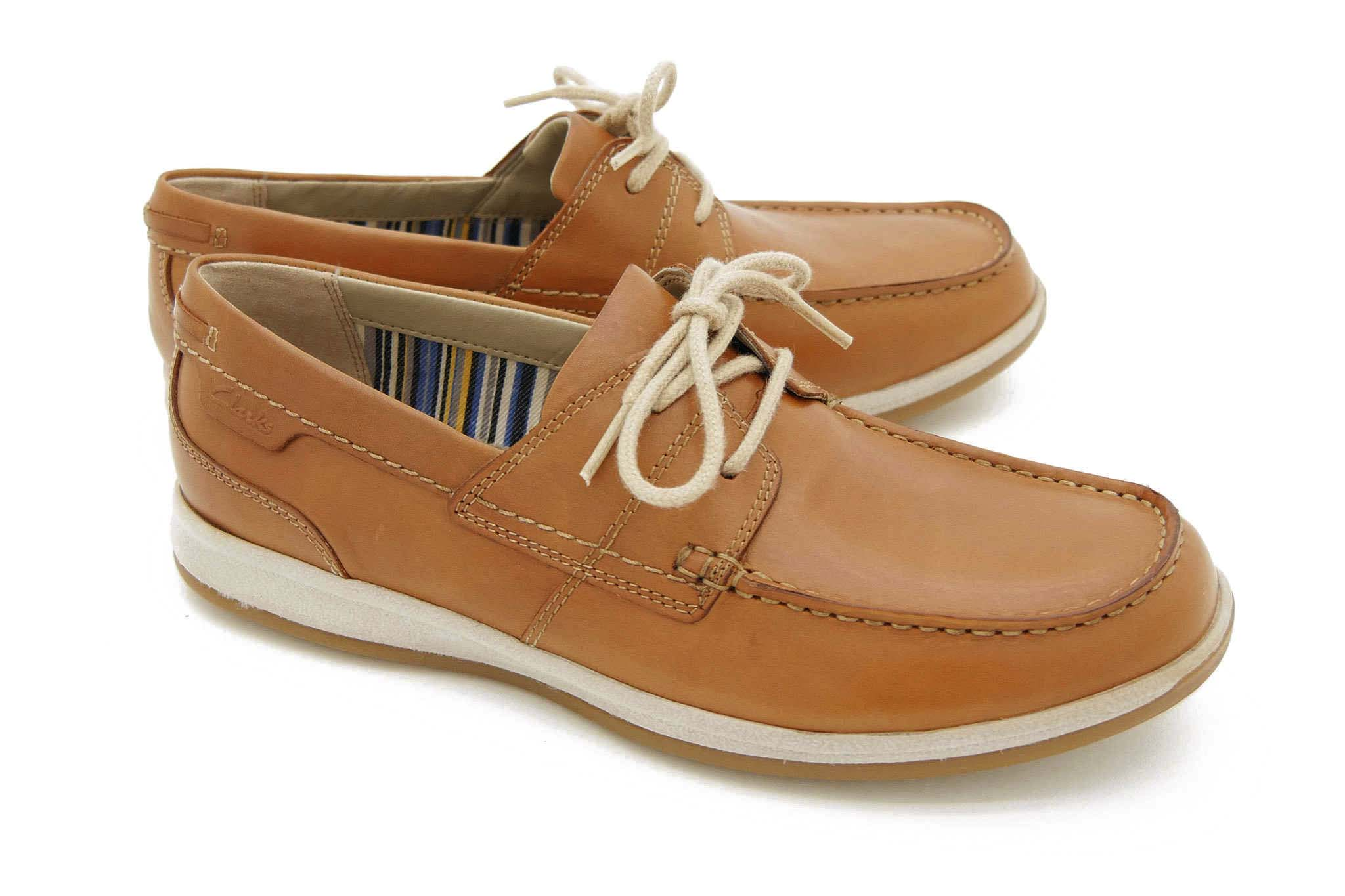 Clarks Fallston Style TAN LEATHER 41