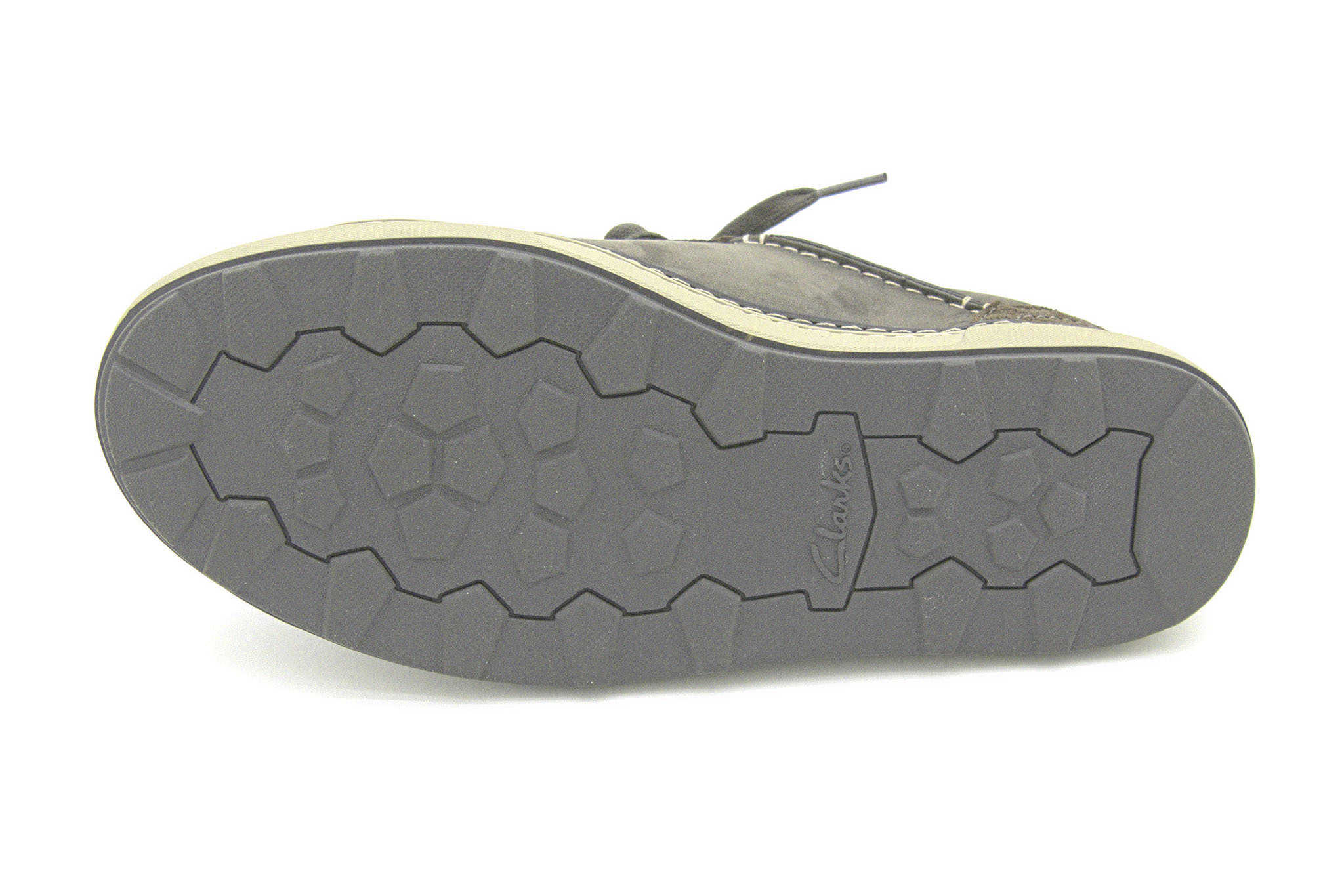 Clarks Lorsen Edge GREY COMBI LEATH 42