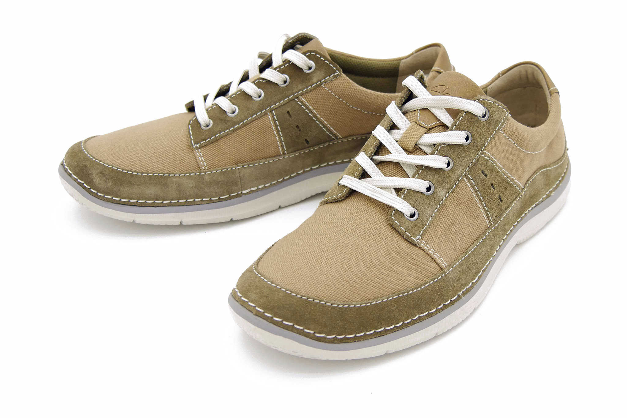 Clarks Ripton Plain OLIVE CANVAS 42,5