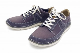 Clarks Ripton Plain BLUE CANVAS